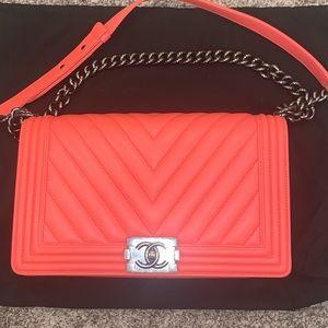 Chanel Medium Boy Flap Bag CORAL